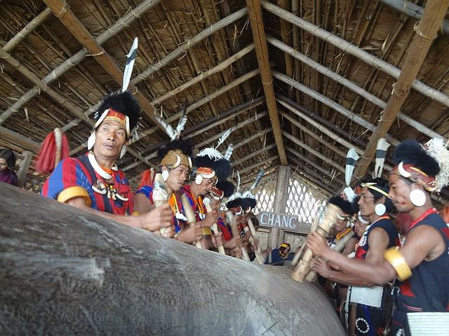 Hornbill Festival warriors (pic courtesy Homen Biswas)