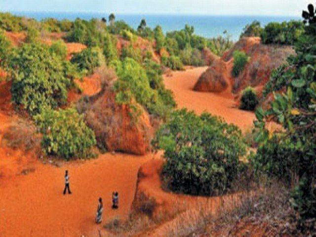 red sand hills