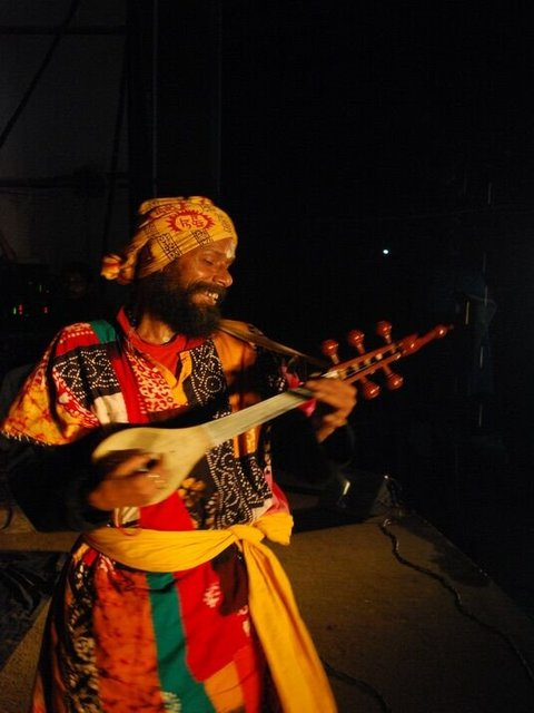 A traditional Baul singer