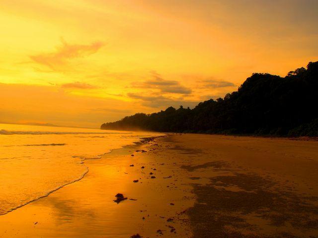 Radhanagar_beach_during_sunset